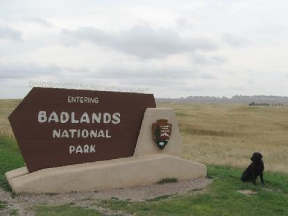 Luke takes a peek at the Badlands in South Dakota.