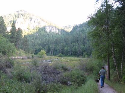 As the sun begins to set, Luke and Clarke wander the trails of Spearfish Canyon.